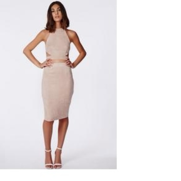 b29ff4d32 Missguided berryana faux suede midi skirt taupe.  M_5a982319fcdc31c2f566a49c. Other Skirts ...